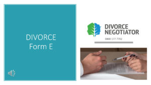 Divorce Form E